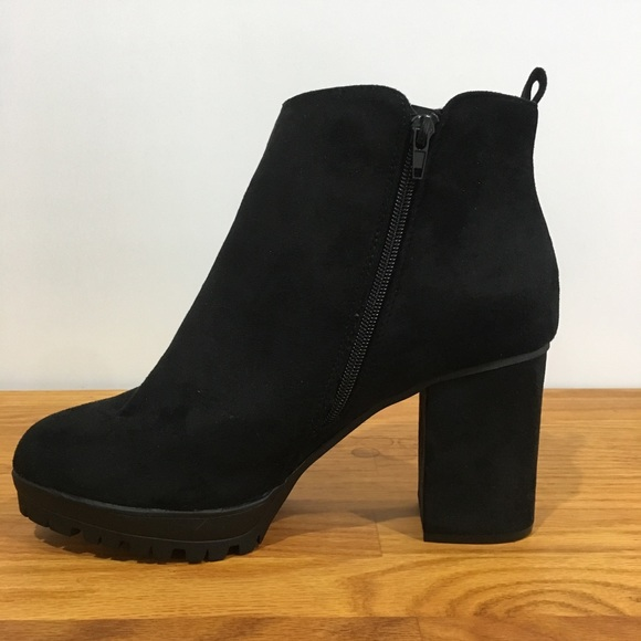 f208bd17dfb7 New Look Shoes | Suede Wide Fit Chunky Cleated Ankle Boot | Poshmark